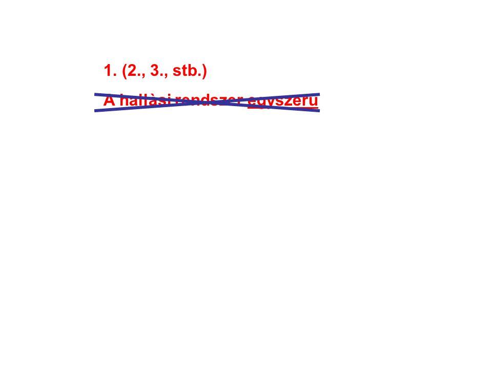 1.(2., 3., stb.) A hallàsi rendszer egyszerű