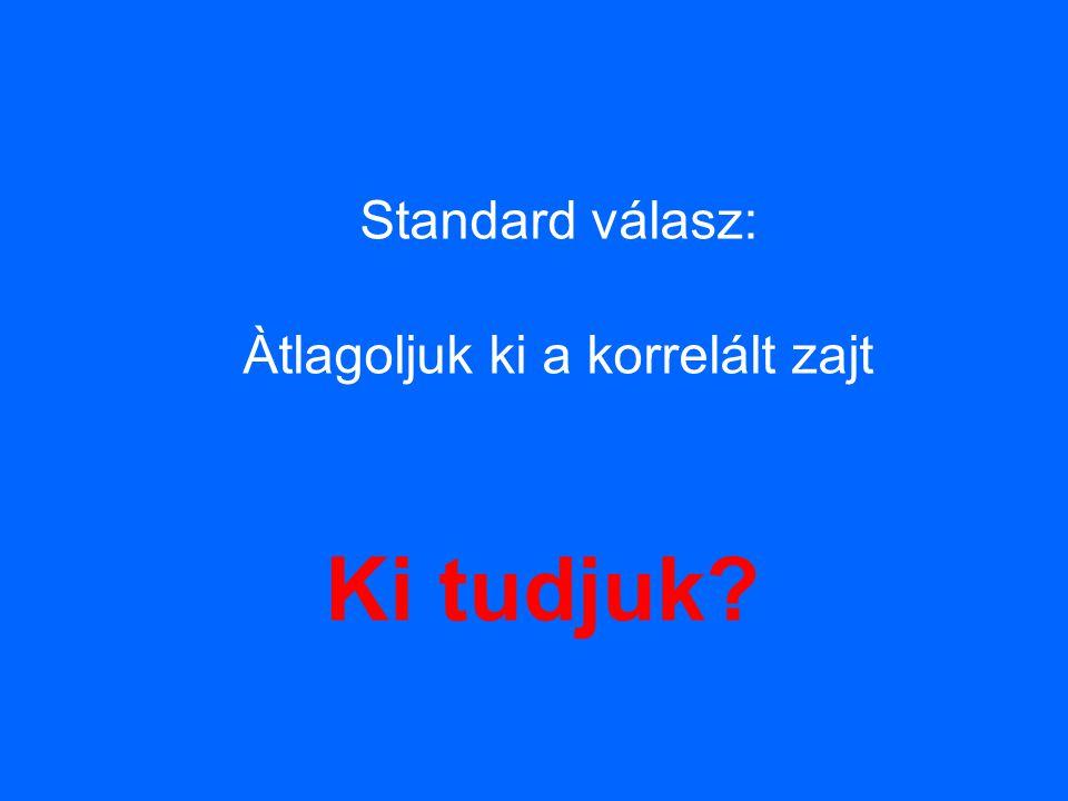 Standard válasz: Àtlagoljuk ki a korrelált zajt Ki tudjuk