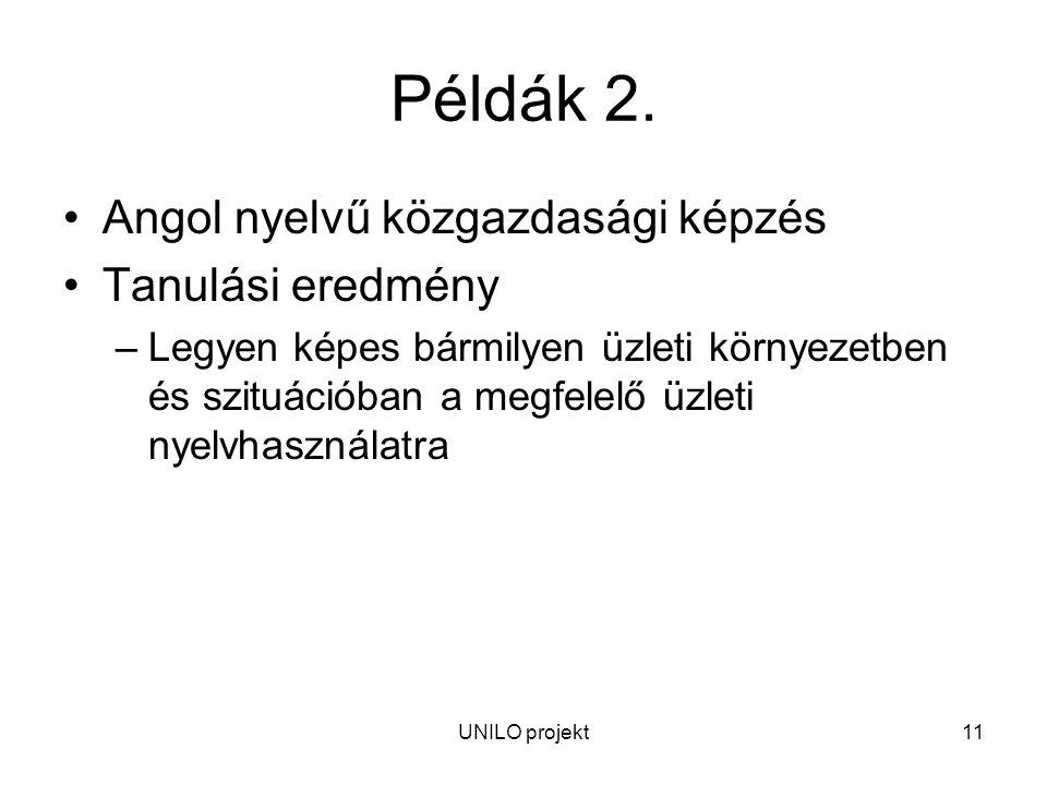 UNILO projekt11 Példák 2.