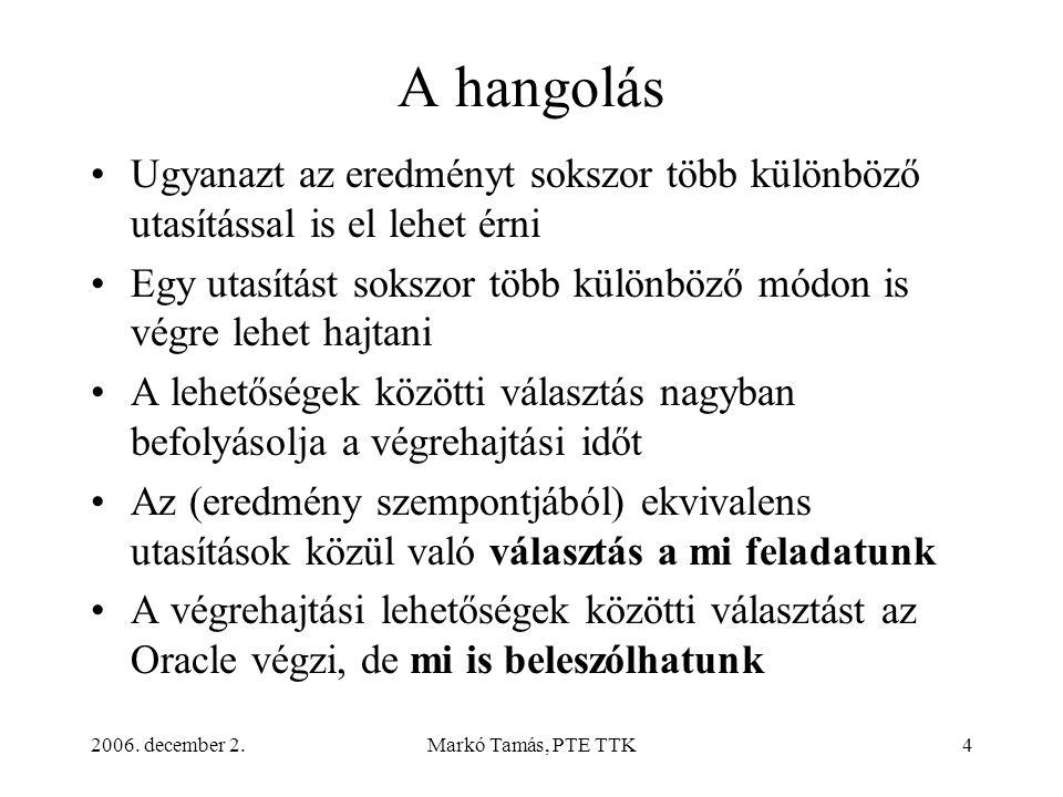 2006.december 2.Markó Tamás, PTE TTK35 Hatékonyságjavító intézkedések 3.