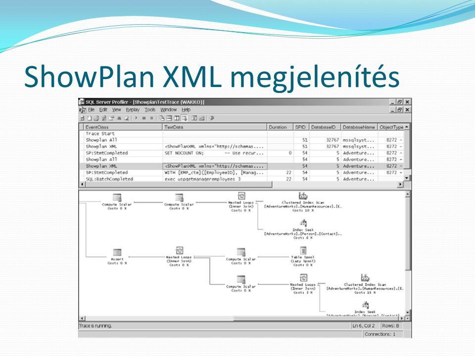 ShowPlan XML megjelenítés