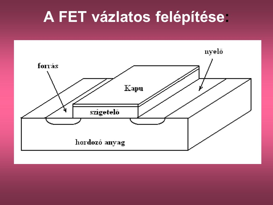 A FET vázlatos felépítése: