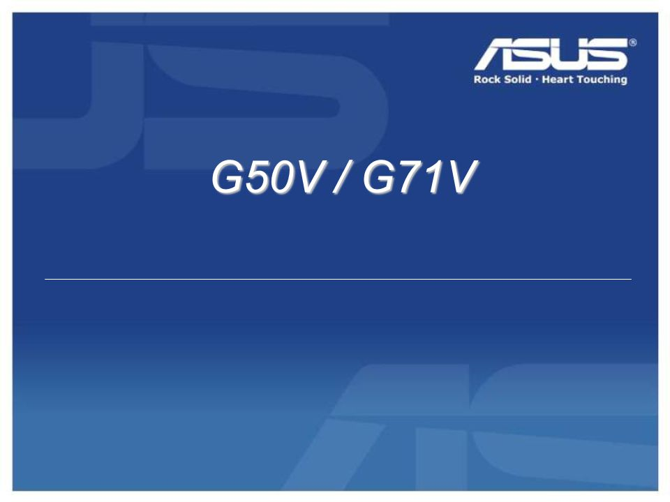 G50V / G71V G50V / G71V