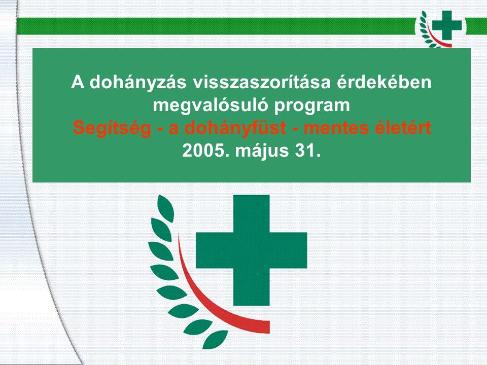 A dohányzás visszaszorítása érdekében megvalósuló program Segítség - a dohányfüst - mentes életért 2005.