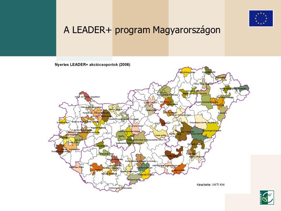 A LEADER+ Program eredményei: • 3609 db beérkezett helyi pályázat, • 2701 db támogatott projekt, • 17 milliárd forint támogatási igény a 186 akciócsoport részéről, • Több mint 5 milliárd forint lekötött támogatás, • A LEADER-módszertan ismertté és népszerűvé válása Magyarországon.
