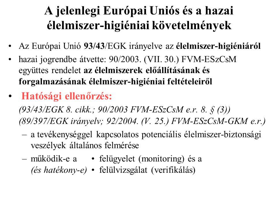 Új higiéniai rendeletcsomag 853/2004/EK rendelet az állati eredetű élelmiszerek különleges higiéniai szabályainak megállapításáról Hatály (2/2) •Nem v