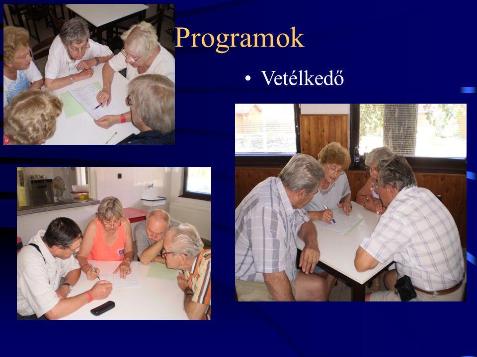 Programok •Vetélkedő