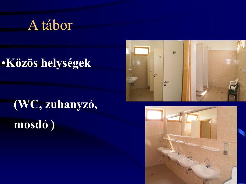 A tábor •Közös helységek (WC, zuhanyzó, mosdó )