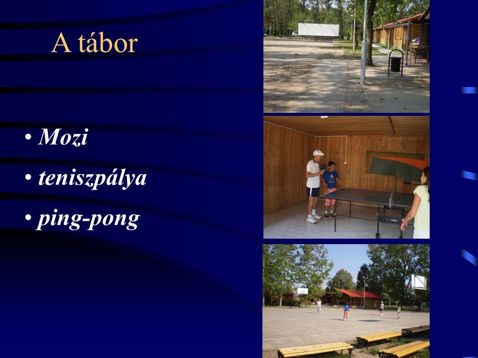 A tábor • Mozi • teniszpálya • ping-pong
