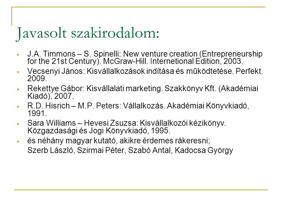 Kisvállalkozások fejlődési szakaszai (makroszintű vizsgálat 1.