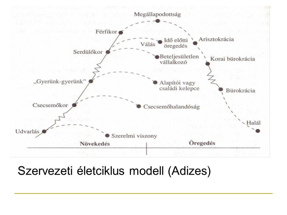 Szervezeti életciklus modell (Adizes)