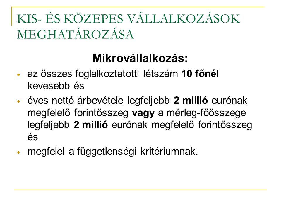 KKV programok Magyarországon 2. Operatív programok (ld.