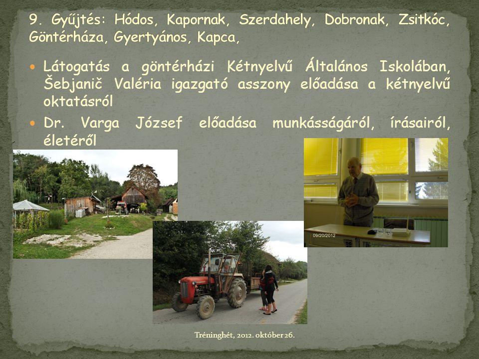  Látogatás a göntérházi Kétnyelvű Általános Iskolában, Šebjanič Valéria igazgató asszony előadása a kétnyelvű oktatásról  Dr. Varga József előadása