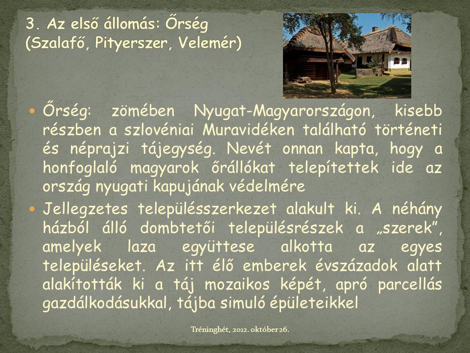  Őrség: zömében Nyugat-Magyarországon, kisebb részben a szlovéniai Muravidéken található történeti és néprajzi tájegység. Nevét onnan kapta, hogy a h