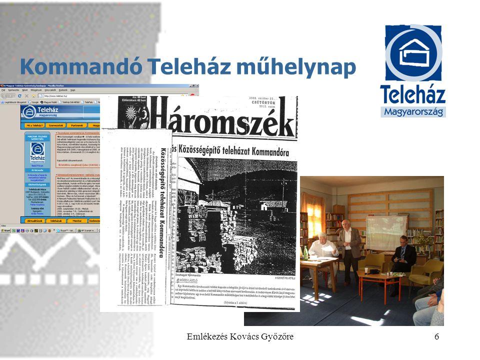 2013.05.29.Emlékezés Kovács Győzőre7 15 éves a MTSZ •Együtt