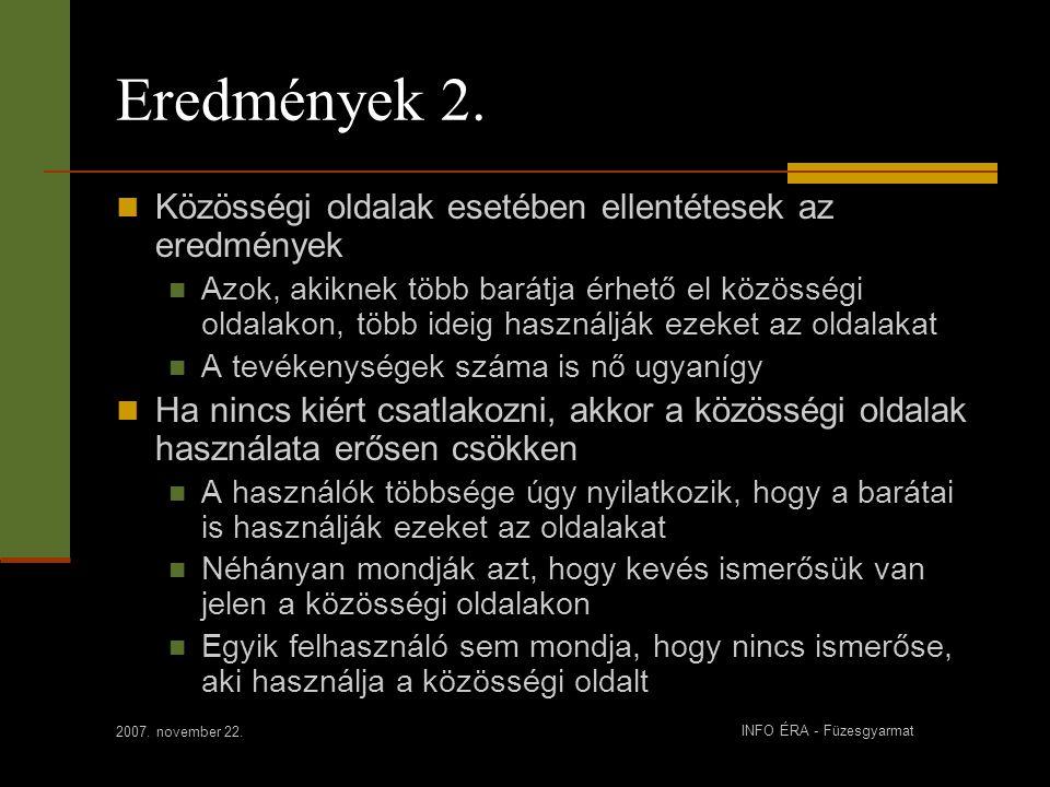 2007. november 22. INFO ÉRA - Füzesgyarmat Eredmények 2.