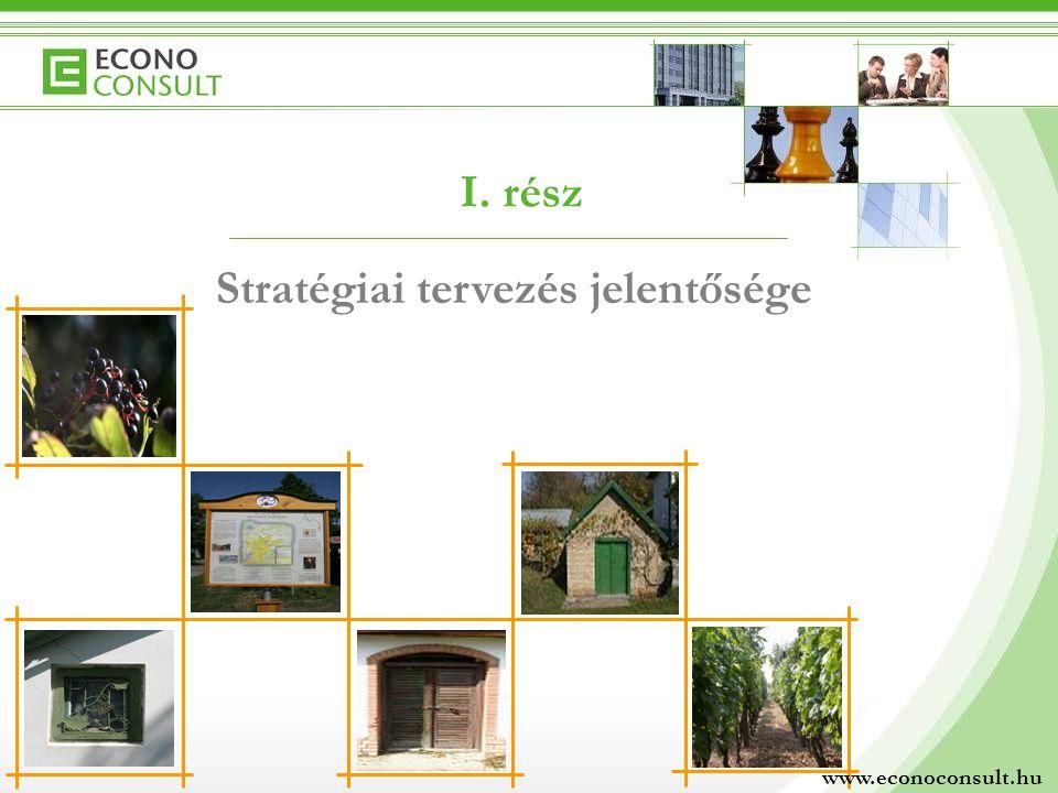 I. rész Stratégiai tervezés jelentősége www.econoconsult.hu