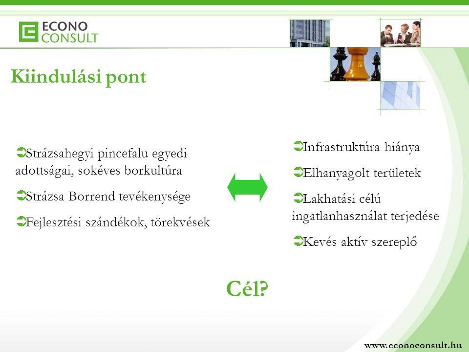 Kiindulási pont  Strázsahegyi pincefalu egyedi adottságai, sokéves borkultúra  Strázsa Borrend tevékenysége  Fejlesztési szándékok, törekvések  In
