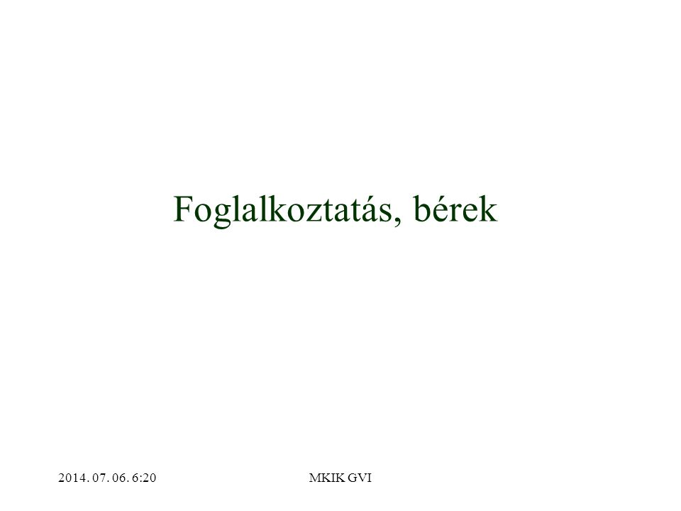 2014. 07. 06. 6:22MKIK GVI Foglalkoztatás, bérek