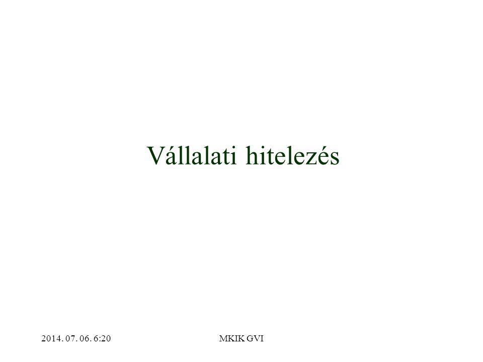 2014. 07. 06. 6:22MKIK GVI Vállalati hitelezés