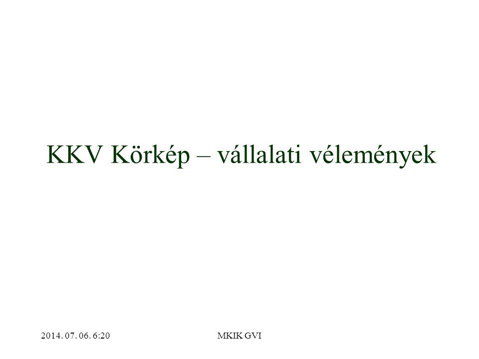 2014. 07. 06. 6:22MKIK GVI KKV Körkép – vállalati vélemények