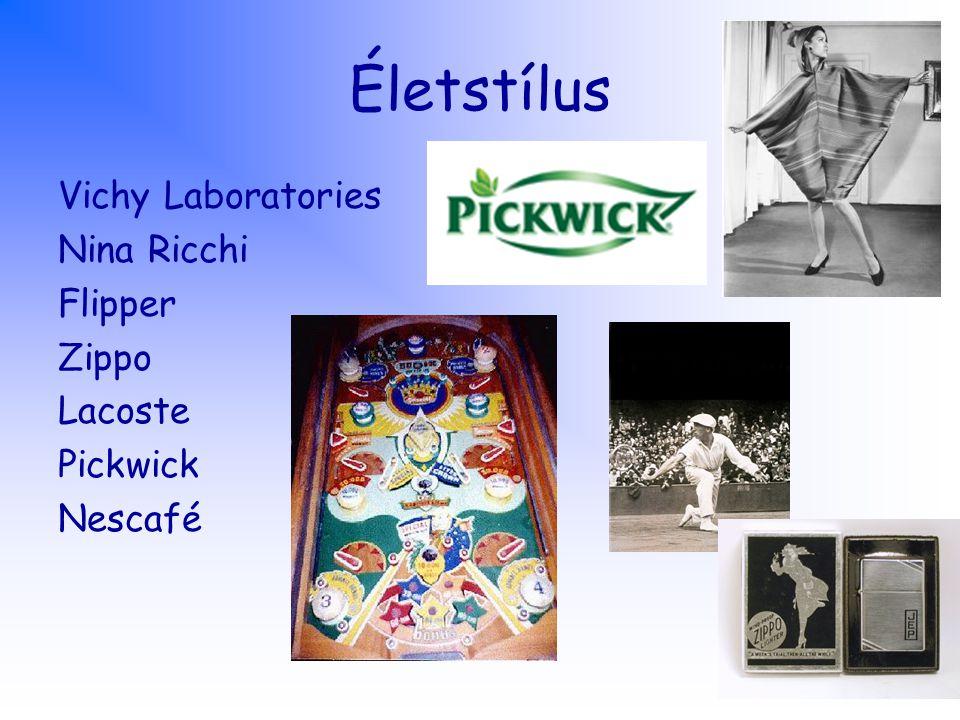 Életstílus Vichy Laboratories Nina Ricchi Flipper Zippo Lacoste Pickwick Nescafé