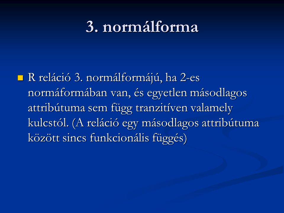 3.normálforma  R reláció 3.