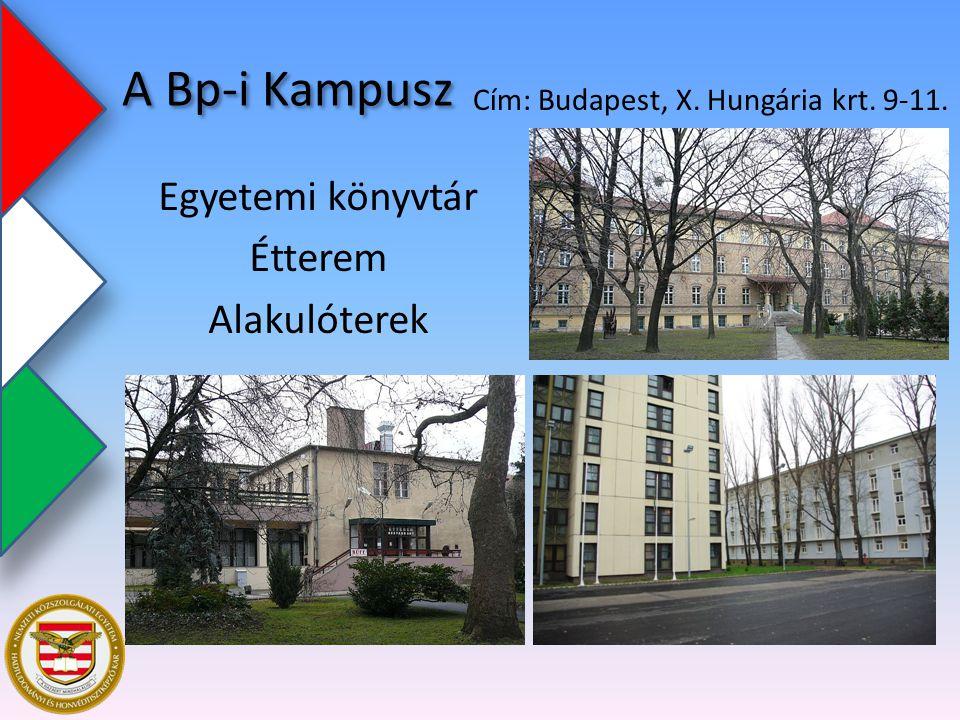Egyetemi könyvtár Étterem Alakulóterek Cím: Budapest, X. Hungária krt. 9-11. A Bp-i Kampusz