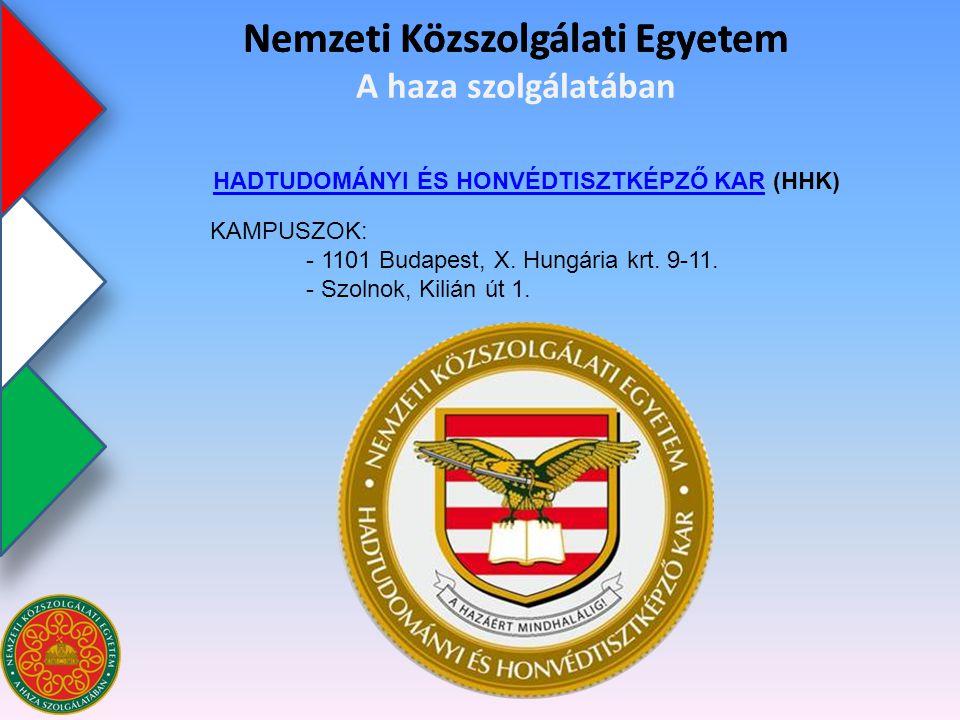 Nemzeti Közszolgálati Egyetem KÖZIGAZGATÁS-TUDOMÁNYI KARKÖZIGAZGATÁS-TUDOMÁNYI KAR (KTK) Nemzeti Közszolgálati Egyetem A haza szolgálatában KAMPUSZ: - 1118 Budapest, Ménesi út 5.