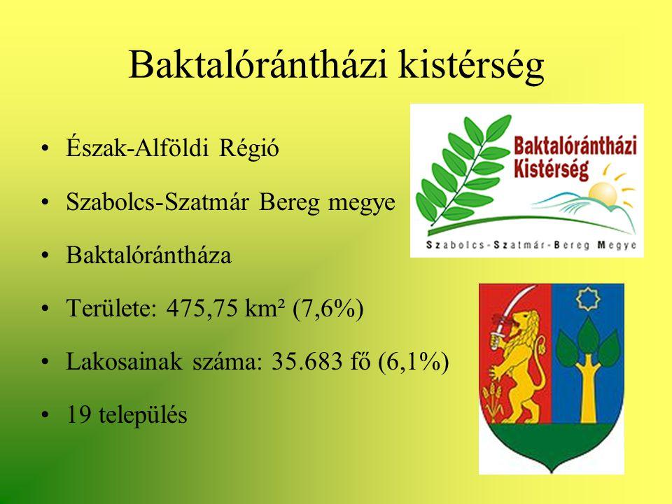•Észak-Alföldi Régió •Szabolcs-Szatmár Bereg megye •Baktalórántháza •Területe: 475,75 km² (7,6%) •Lakosainak száma: 35.683 fő (6,1%) •19 település