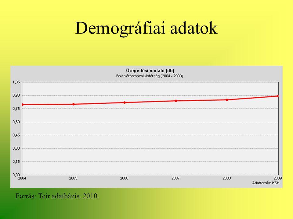 Demográfiai adatok Forrás: Teir adatbázis, 2010.