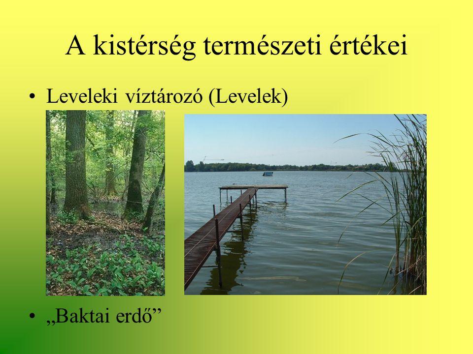 """A kistérség természeti értékei •Leveleki víztározó (Levelek) •""""Baktai erdő"""""""