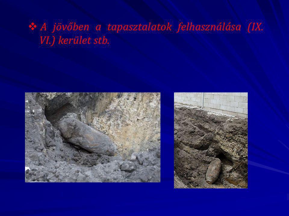  A jövőben a tapasztalatok felhasználása (IX. VI.) kerület stb.