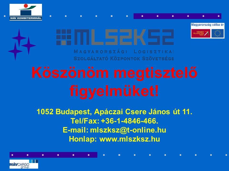 1052 Budapest, Apáczai Csere János út 11. Tel/Fax: +36-1-4846-466. E-mail: mlszksz@t-online.hu Honlap: www.mlszksz.hu Köszönöm megtisztelő figyelmüket