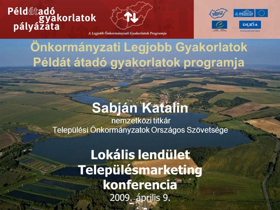 A programról A Példát átadó gyakorlatok pályázatát – a Legjobb Önkormányzati Gyakorlatok Programját a Települési Önkormányzatok Országos Szövetsége (TÖOSZ) az Európa Tanács Helyi és Regionális Demokrácia Szakértői Központja,, a Nemzeti Fejlesztési Ügynökség és a Dexia Kommunalkredit Hungary Kft.