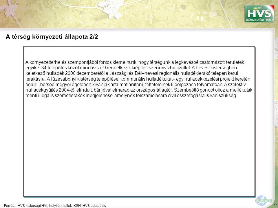 12 A hevesi kistérség a 47 leghátrányosabb helyzetű kistérségek egyike, 17 településsel – melyek közül Heves és Kisköre rendelkezik városi ranggal - és 37685 fő népességszámmal.