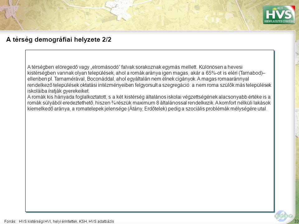 """33 A térségben elöregedő vagy """"elromásodó"""" falvak sorakoznak egymás mellett. Különösen a hevesi kistérségben vannak olyan települések, ahol a romák ar"""