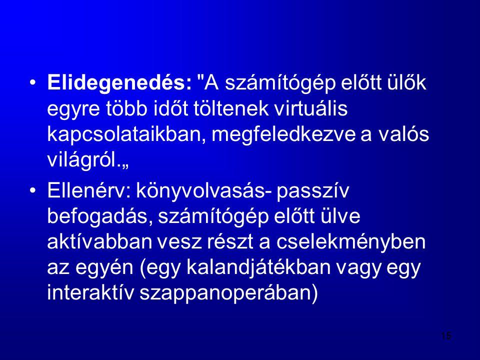 15 •Elidegenedés: