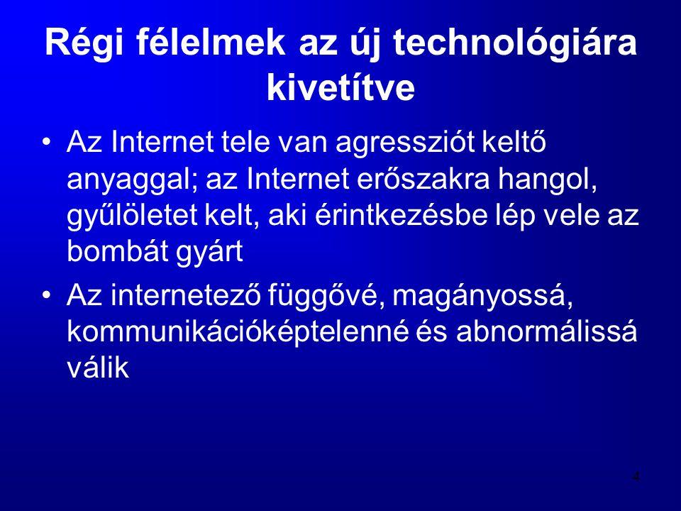 35 Technorealizmus •A felfokozott negatív vagy pozitív elvárások alóli feloldozást a technorealizmus jelentheti •Ezt felismerve indították útjára 1998-ban a Technorealizmus mozgalmat, ami az Interneten kereste keresi támogató híveit •A Technorealizmus (1998) a (poszt)modern kor kiáltványa, amely nyolc tételben rögzíti, hogy mit jelent realista módon viszonyulni a technológiához: