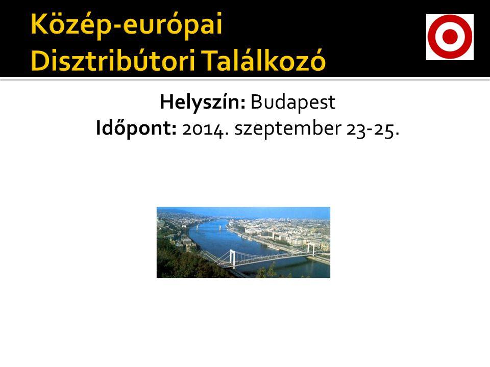 Helyszín: Budapest Időpont: 2014. szeptember 23-25.