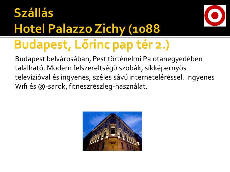 Budapest belvárosában, Pest történelmi Palotanegyedében található.