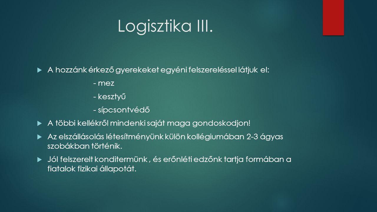 Logisztika III.