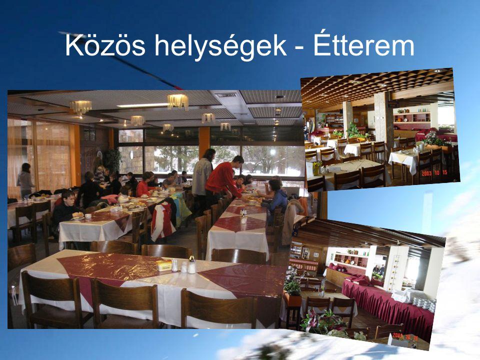 Közös helységek - Étterem