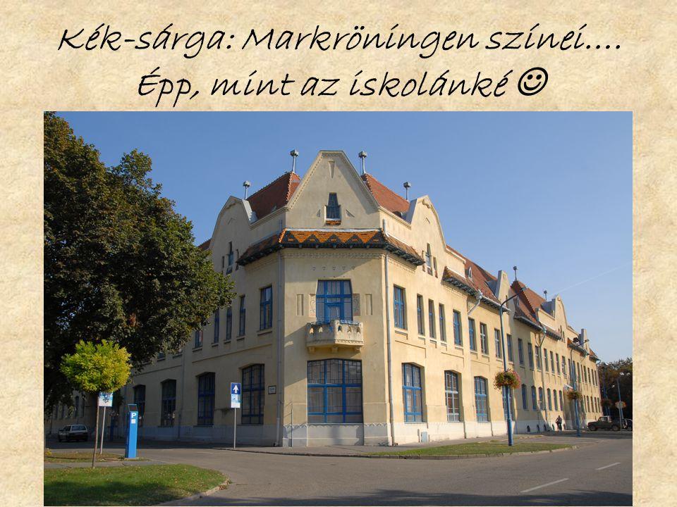 Kék-sárga: Markröningen színei…. Épp, mint az iskolánké 