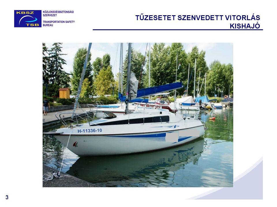 4 VITORLÁS KISHAJÓ TŰZ  Vitorlás kishajó típusa: Rebell Seaskip II 25  Hajó építési helye és éve: nem ismert, a tulajdonos használtan vásárolta a vitorlás kishajót.