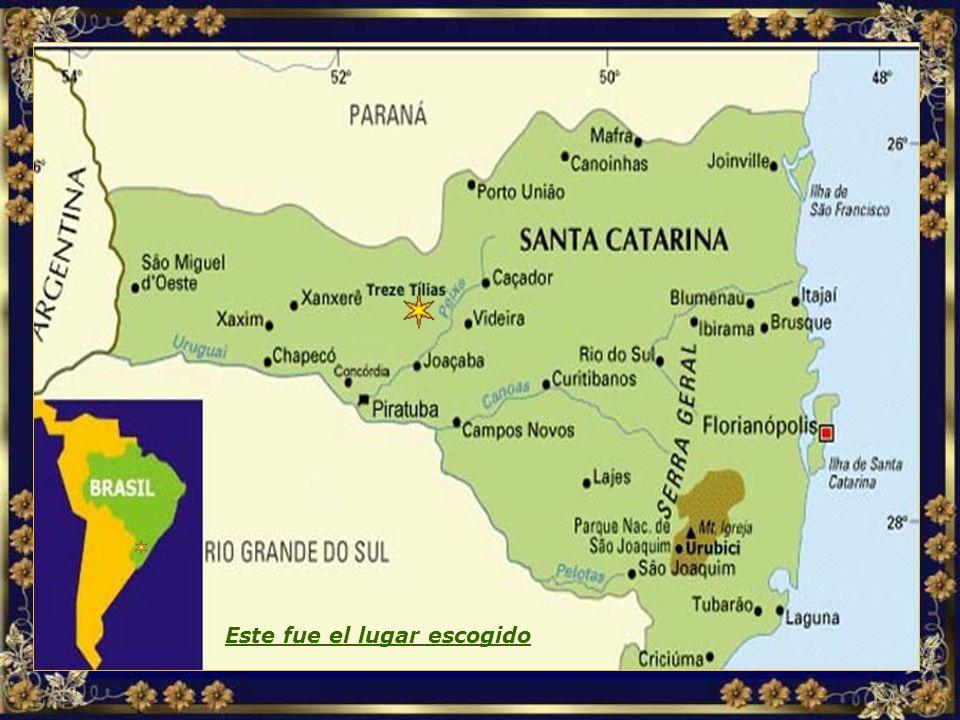 Több dél-amerikai országban kerestek a kivándorlóknak megfelelő helyet, és a döntés a Brazíl Santa Catarina tagállamra esett, mert az hasonlított az o