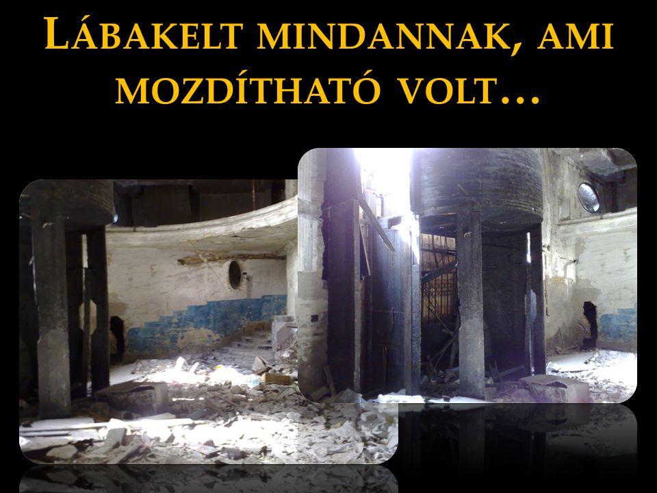 L ÁBAKELT MINDANNAK, AMI MOZDÍTHATÓ VOLT …