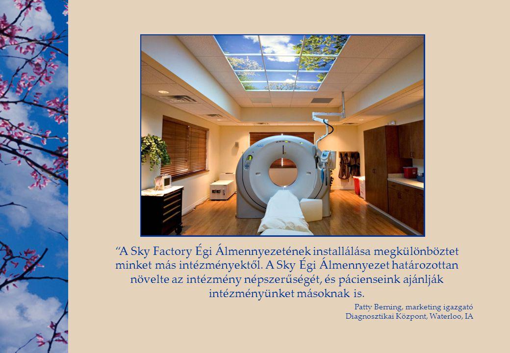 """""""A Sky Factory Égi Álmennyezetének installálása megkülönböztet minket más intézményektől. A Sky Égi Álmennyezet határozottan növelte az intézmény néps"""