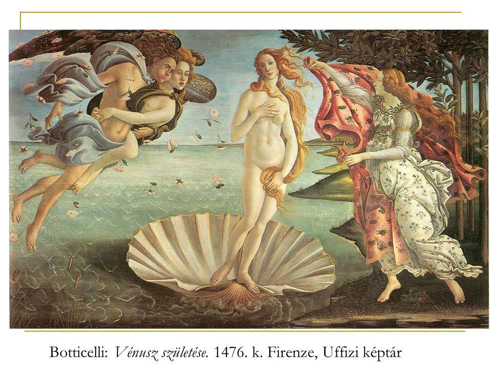 Botticelli: Vénusz születése. 1476. k. Firenze, Uffizi képtár