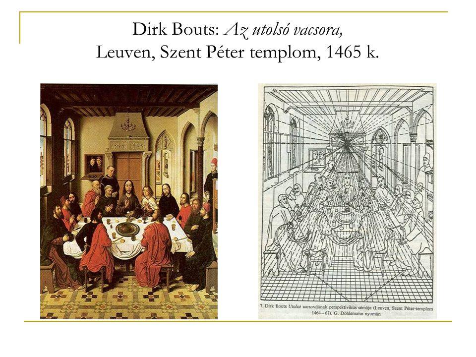 Dirk Bouts: Az utolsó vacsora, Leuven, Szent Péter templom, 1465 k.